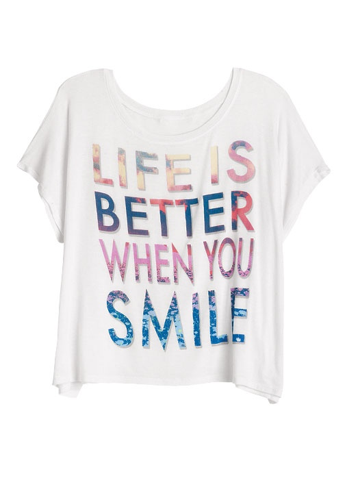 dELiAs > Life Is Better When You Smile Tee > tops > graphic tees > view all graphic tees