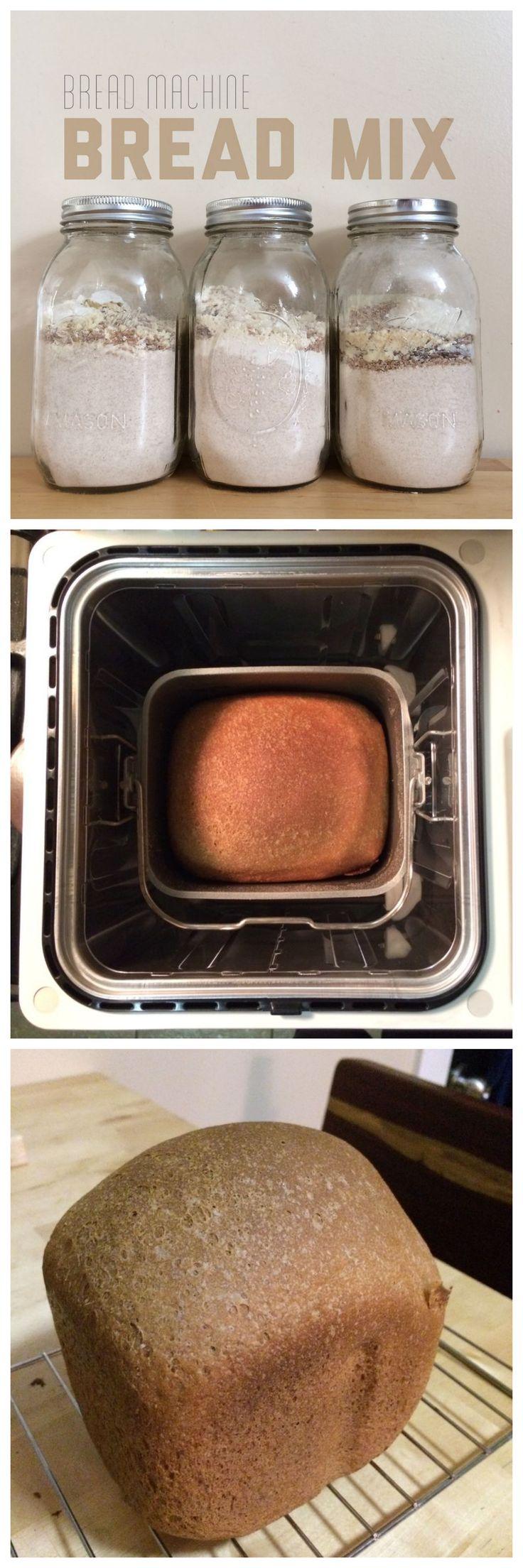 DIY Bread Machine Bread Mix in a Mason Jar #recipe #baking