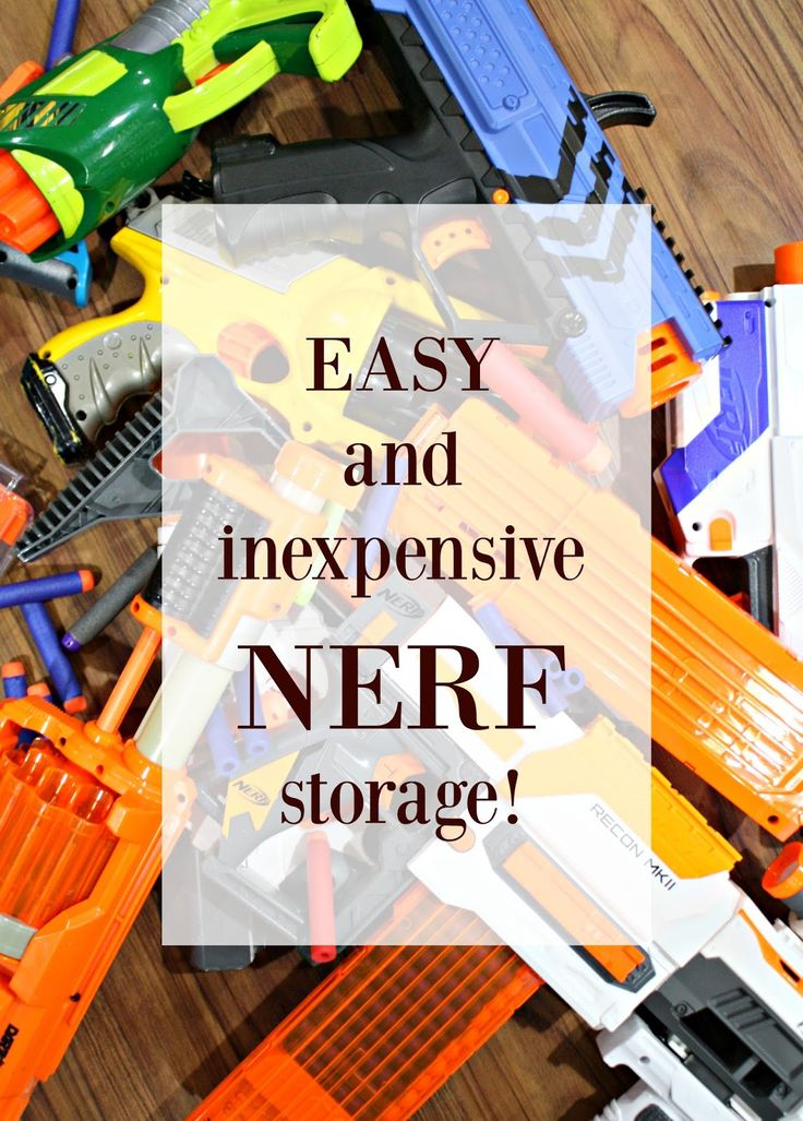 If you have Nerf guns and accessories everywhere, this is a great solution for storage!