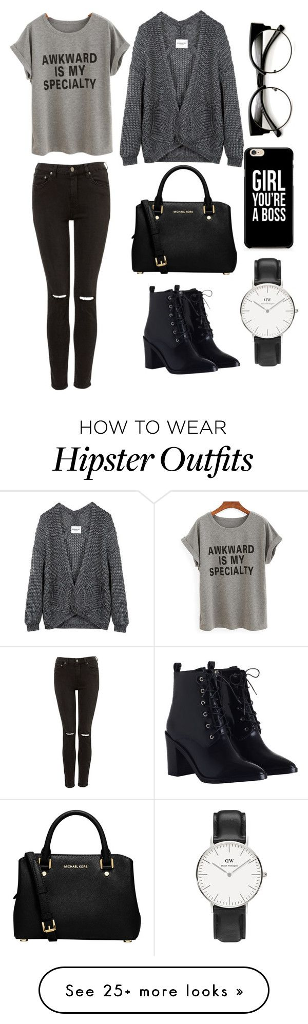 """""""september's look"""" by lizaxliam on Polyvore featuring Zimmermann, MICHAEL Michael Kors and Daniel Wellington"""