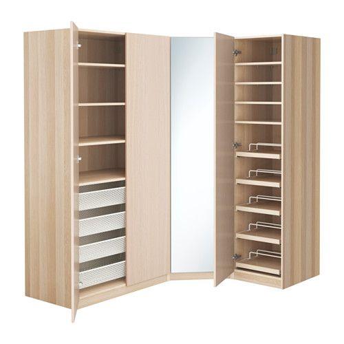IKEA - PAX, Garderobeskap, 196/146x60x201 cm, , 10 års garanti. Les om vilkårene i garantiheftet.I PAX-planleggeren kan du enkelt tilpasse denne ferdige PAX/KOMPLEMENT-kombinasjonen etter behov og smak.Hvis du vil organisere innsiden, kan du supplere med innredning fra KOMPLEMENT-serien.Justerbare føtter gjør det mulig å kompensere for eventuelle ujevnheter i gulvet.