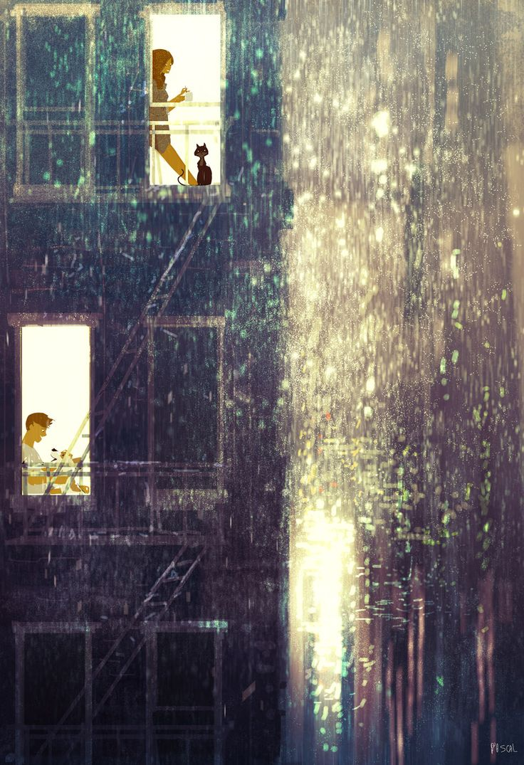 There is always sunshine after the storm #pascalcampionart. _Don't you worry sweetie, it will go away. Maybe we'll even see a rainbow...