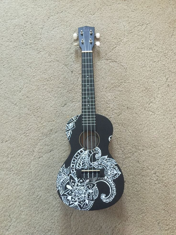 painted ukulele by melody almeida ukeleles painted ukulele ukulele art ukulele. Black Bedroom Furniture Sets. Home Design Ideas