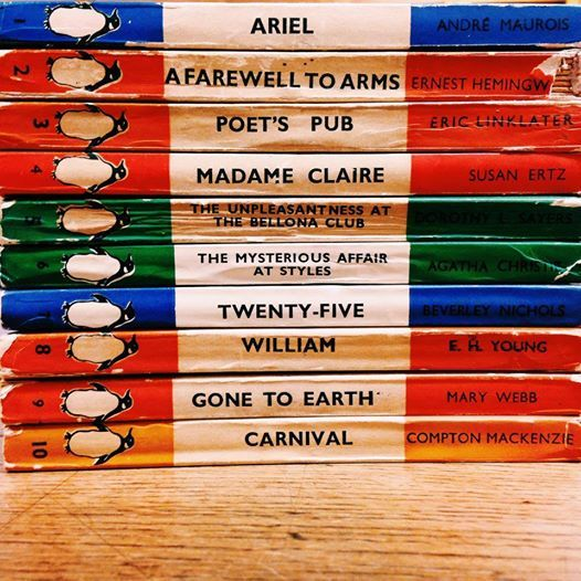 More from Penguin archives in Bristol - we thought you might like to see a picture of the first 10 Penguins ever published, from Lane's own collection. #fromthearchive