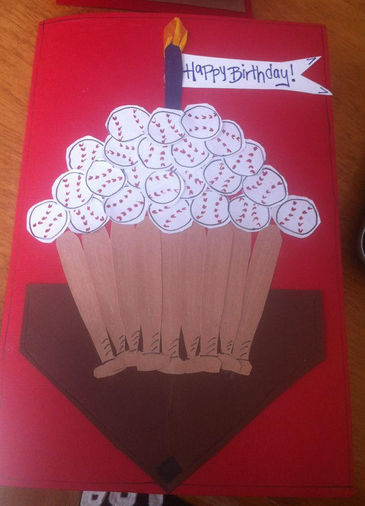 Baseball Birthday Card Homemade