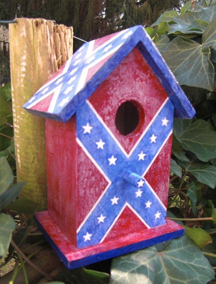Vogelhäuschen Südstaaten Flagge. Birdhouse Confederate Flag, Hand Painted ;-)