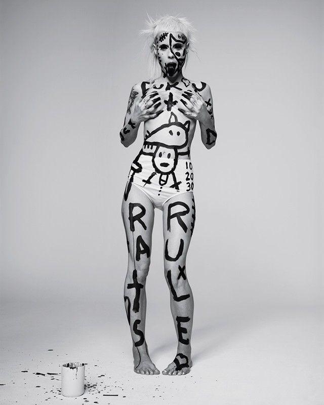 Yo-landi Visser wears cotton knickers by Nude Label
