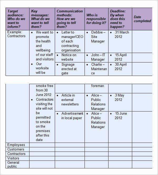 40 Internal Communication Plan Template In 2020 Communication