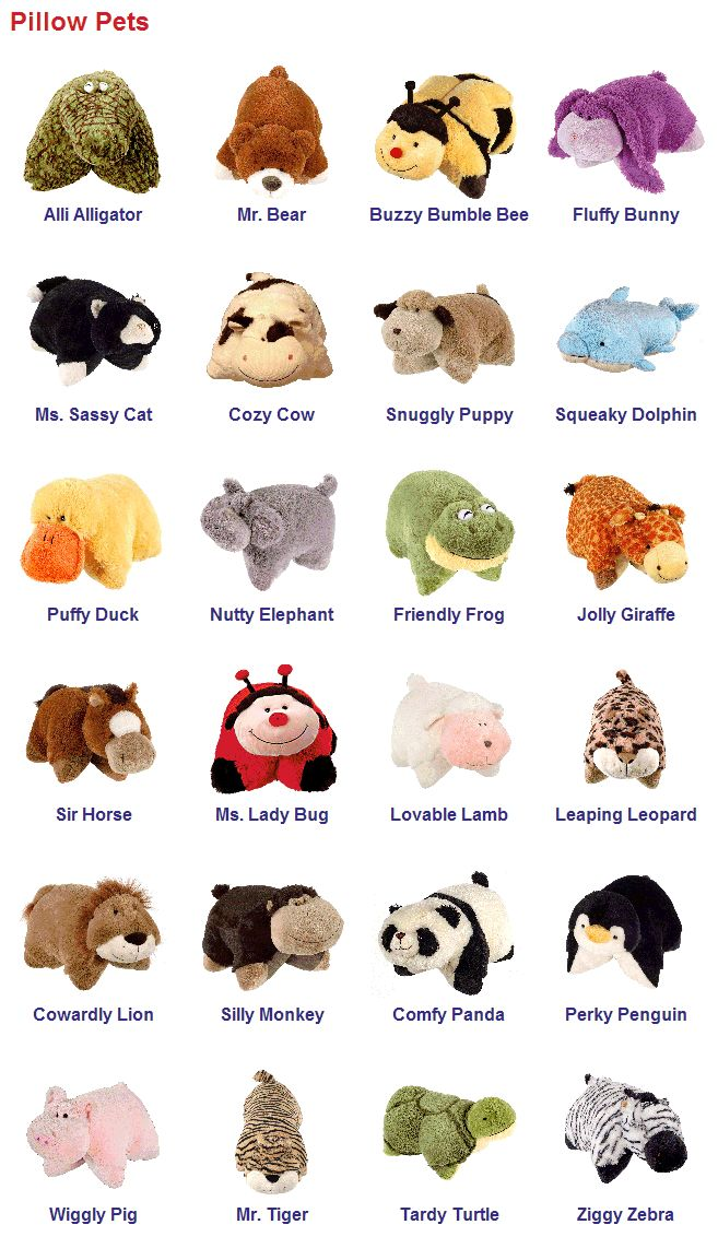 Pillow Pets & Names Animal pillows, Pets, Pet monkey