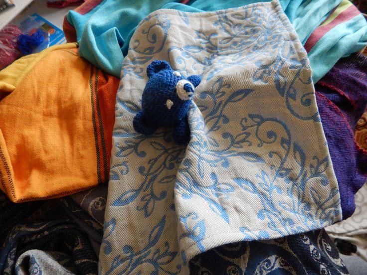 Teddy Slepy Sling from Solnce Mandala Bluebell wrap scrap