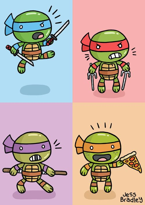 Dibujo de tortugas Ninja