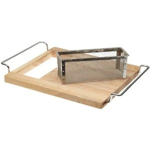 Over Sink Cutting Board With Strainer