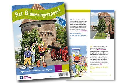 Dit is de brochure Kinderspeurtochten van Zwolle Marketing