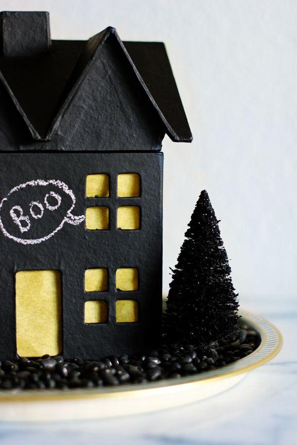 Chalkboard Haunted House DIY