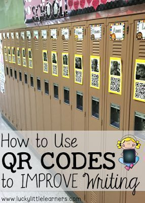 Improve Writing with QR CODES: This blog post includes step by step directions along with a video tutorial on how to implement QR codes to motivate your students to provide quality writing assignments.