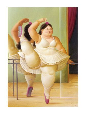 Botero - Ballerina to the Handrail Kunstdruck