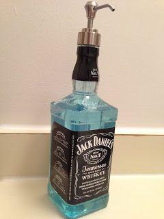 DIY Jack Daniel's Soap Dispenser with Pump Size