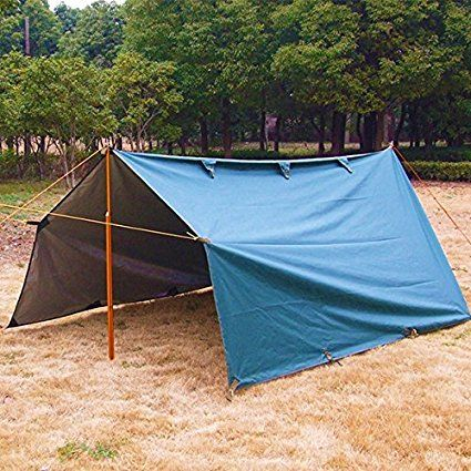 3X3.2m Army Military Auto Cover Camping Waterproof Tarp Awning Tent Fishing Shelter Outdoor Beach: Amazon.it: Elettronica