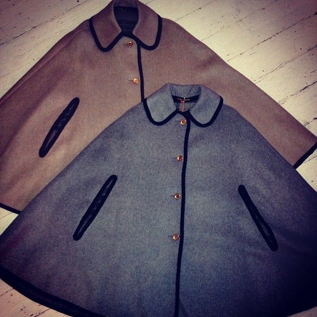 on trend vintage wool capes with a cozy tartan lining  £35.00