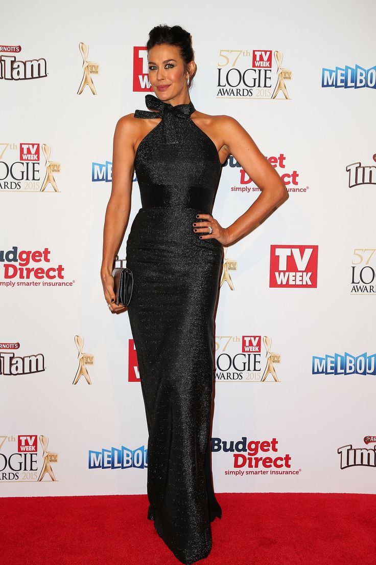 Megan Gale.. Alex Perry dress, YSL clutch, and Bensimon Diamonds..