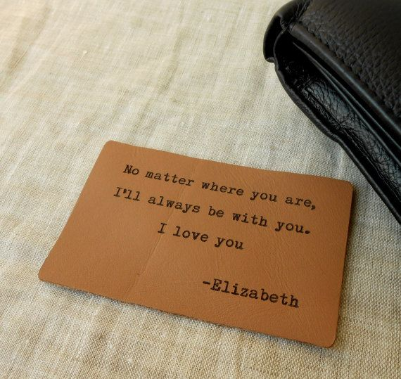 Custom laser engraved wallet insert card.    These wallet insert cards are made of 1/16 thick real Italian leather.  They have the size of a