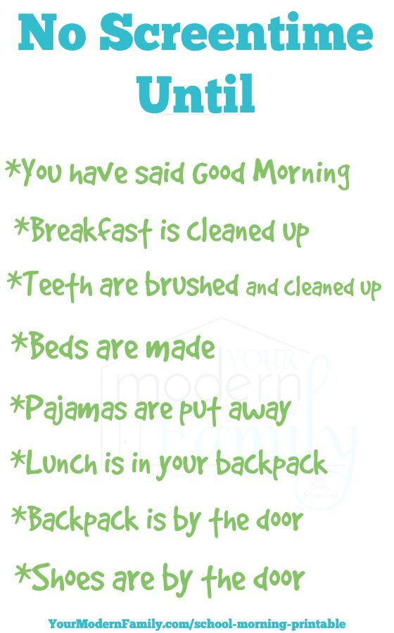 Perfect For School Mornings A Checklist That You Can