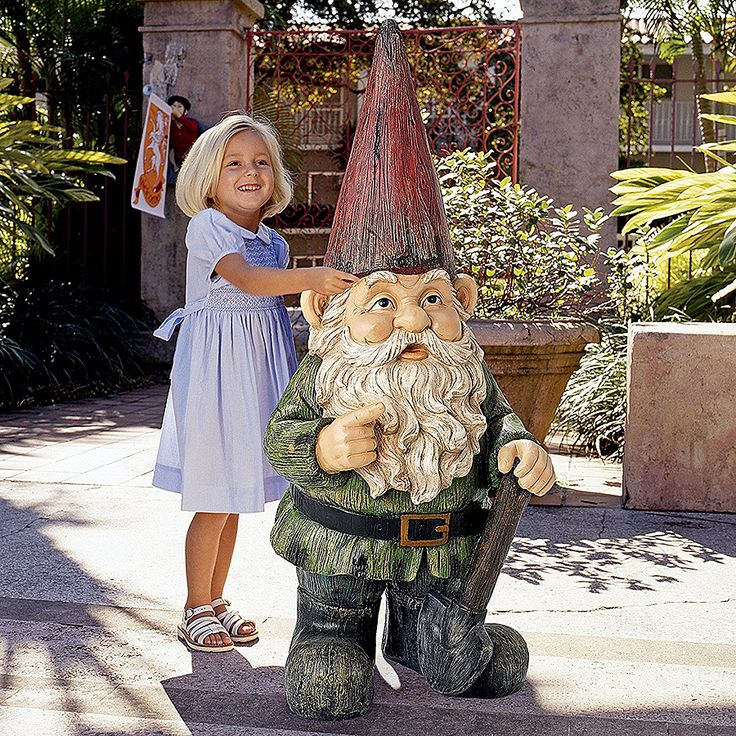 Bigger gnome means better garden. - https://noveltystreet.com/item/26402/