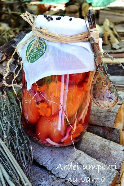 Stuffed peppers with cabbage - (Română) Ardei umpluți cu varză