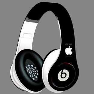 Beats By Dr. Dre Studio Apple Black White Headphones