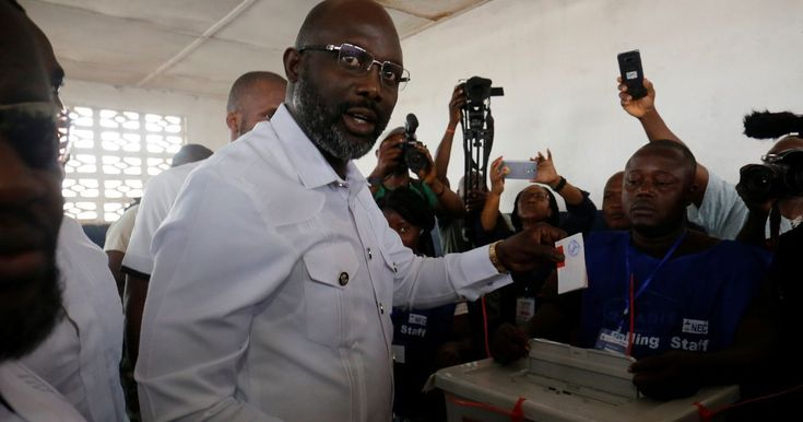Former Chelsea and Manchester City star George Weah wins Liberian presidential run off with 61% of the vote - Mirror Online