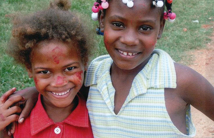 Two little girls from the Dominican Republic
