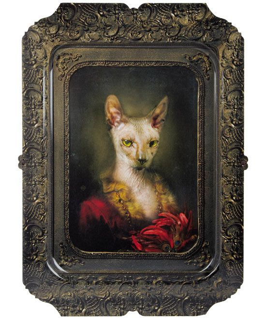 For TV dinners - Irina Cat Tray, Ibride - only £85 @Amy Samson ;)