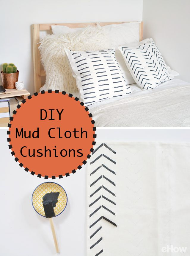 Diy Mud Cloth Cushions Traditional African Mud Cloth