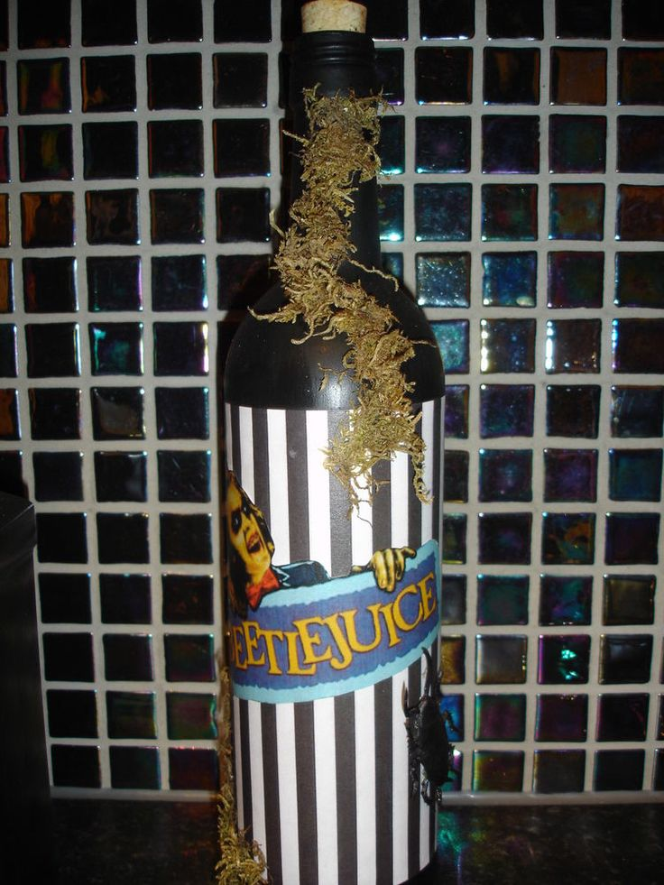 beetlejuice bottle halloween decoration or party bar prop - Ebay Halloween Decorations