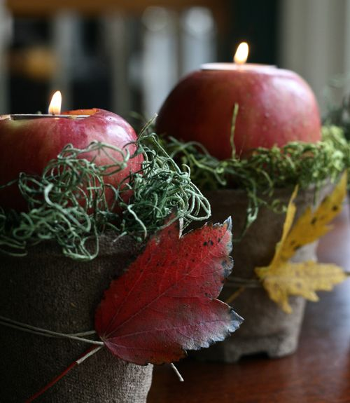 Take one of fall's favorite fruits and craft a glowing, sweet-smelling centerpiece.