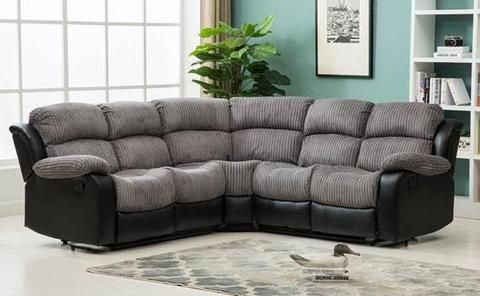 Montana Jumbo Cord Reclining Corner Sofa - Brown or Grey ...