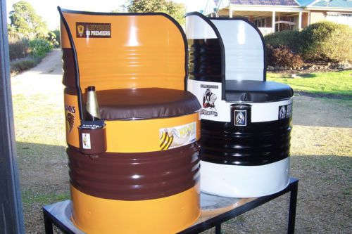 Chairs Converted 44 Gallon Oil Drum Chair Custom Made