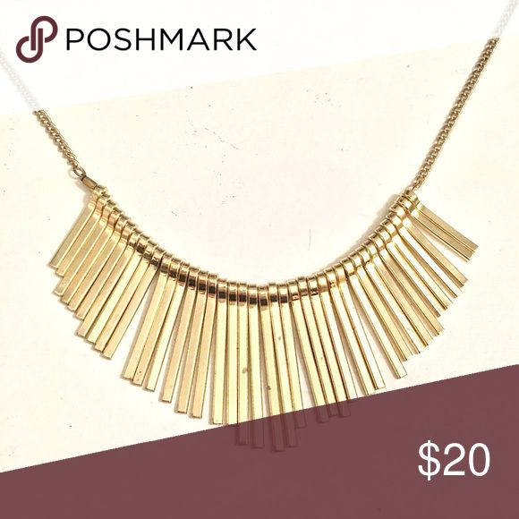 Trendy gold spiked necklace Very stylish gold spiked necklace. Perfect way to jazz up any outfit (love it with a simple little black dress!). I bought this from a boutique shop a few years ago. In great condition. Jewelry Necklaces