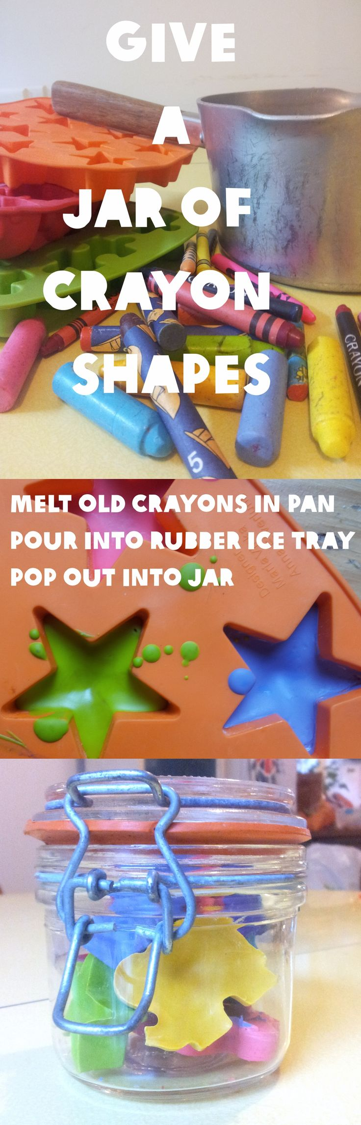 Thrifty Gifts: a jar of crayon shapes « Lulastic and the Hippyshake