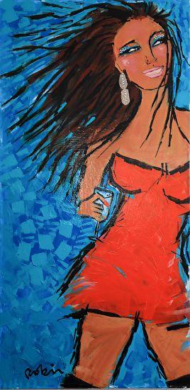 """PRADA a Go-Go by Robin Hiers Acrylic ~ 48"""" x 24"""""""