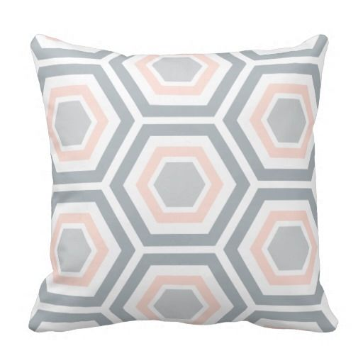 Modern Hexagon Pattern Pillow | Light Pink Gray you will get best price offer lowest prices or diccount couponeDeals          	Modern Hexagon Pattern Pillow | Light Pink Gray Review from Associated Store with this Deal...