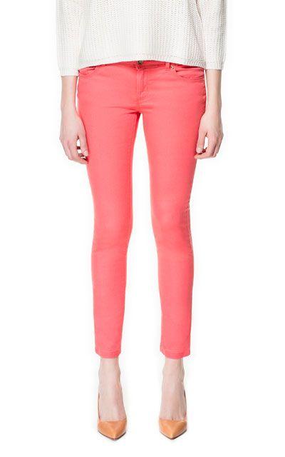 Coral Jeans (Zara)