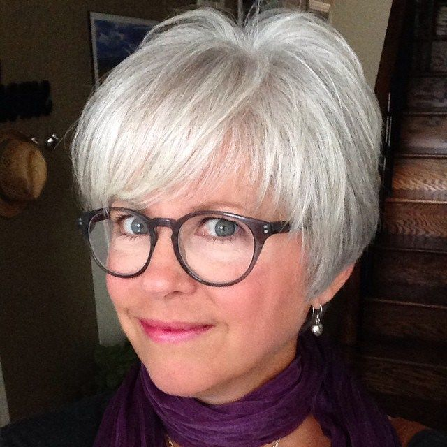 Silver Pixie for Fine Hair