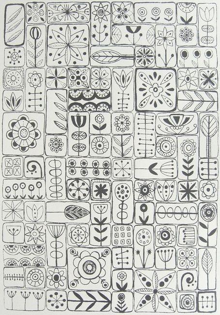Zentangle . . .fancy doodles / doodle