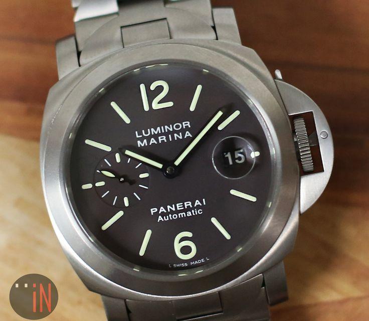 """All On Deck!"" #Panerai 44mm #Luminor Marina J Series, circa 2007 Ref#: PAM 279 * Titanium Brown Dial http://www.elementintime.com/Officine-Panerai-Luminor-Marina-PAM-279-Titanium-Bronw-Dial-44mm-Used"