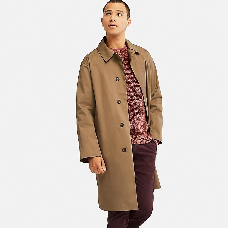 24b4b25388 MEN BLOCKTECH CONVERTIBLE COLLAR COAT, BROWN | Coat in 2019 | Coat ...