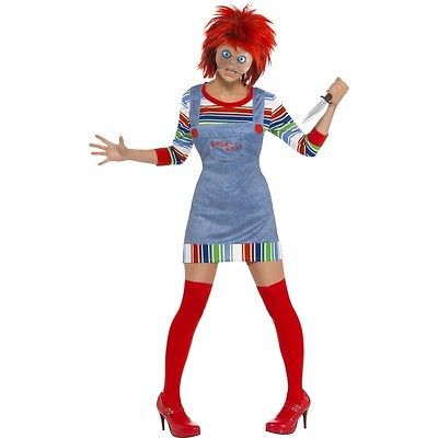 #Womens #childs play #chucky doll costume mask halloween horror fancy dress outfi,  View more on the LINK: http://www.zeppy.io/product/gb/2/261591656280/