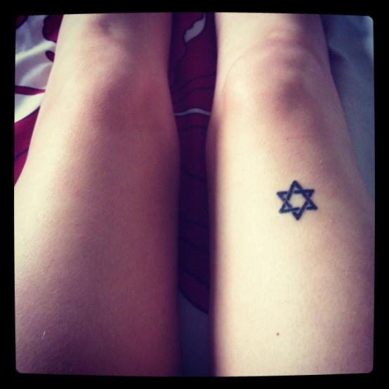 Small Star Of David Tattoo: Star Of David Tattoo On Leg