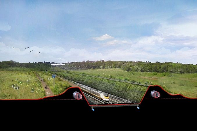 Rendering delle nuove linee ferroviarie inglesi attorno a #Londra. Progetto di #Norman #Foster