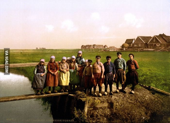 Dutch children 125 years ago.